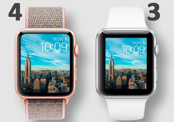 Сравнительная таблица Apple Watch 3 и Apple Watch 4